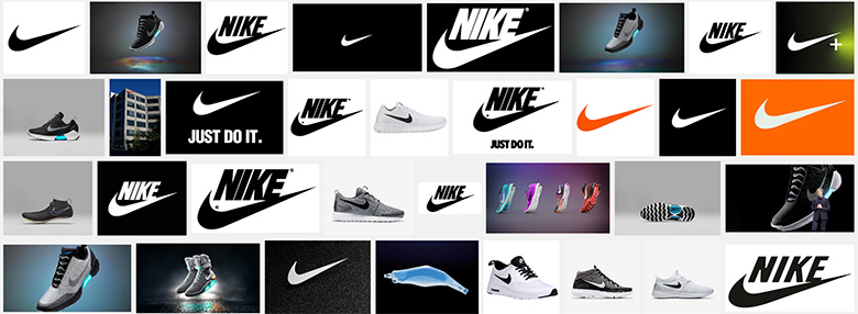 Nike on Google and its famous brand and logo.