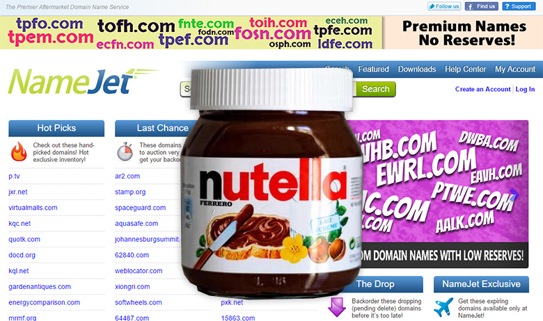 Nutella. Eat it while at NameJet.