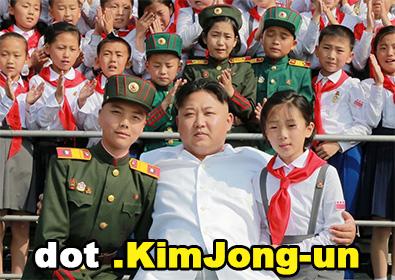Kim Jong-un, Glorious Leader of North Korea, and his pioneers.