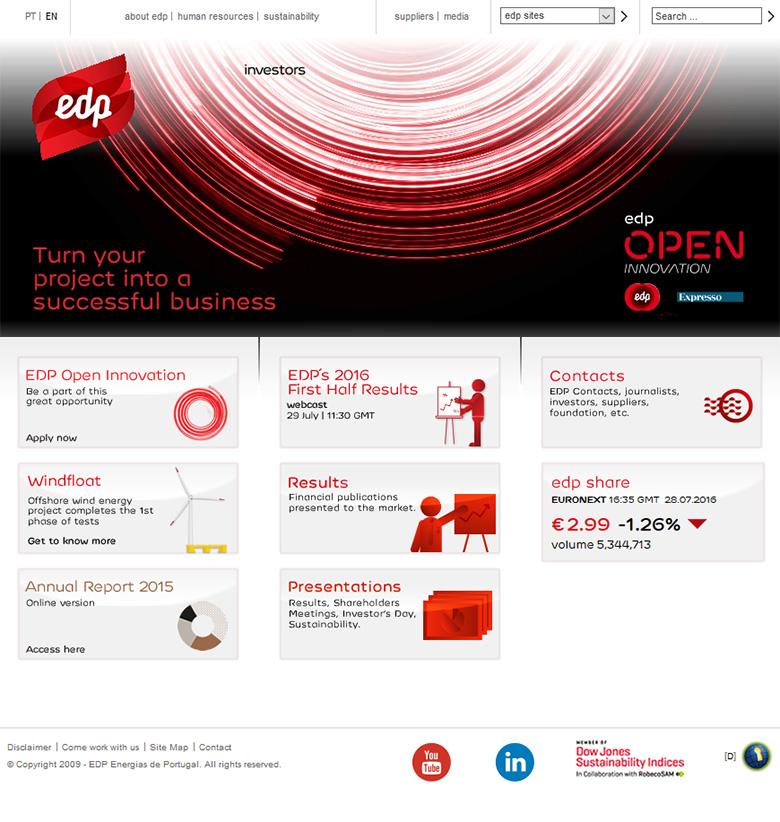 EDP - A large Portuguese company.
