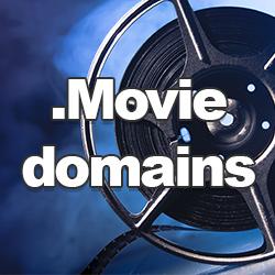 Dot .Movie domain names.