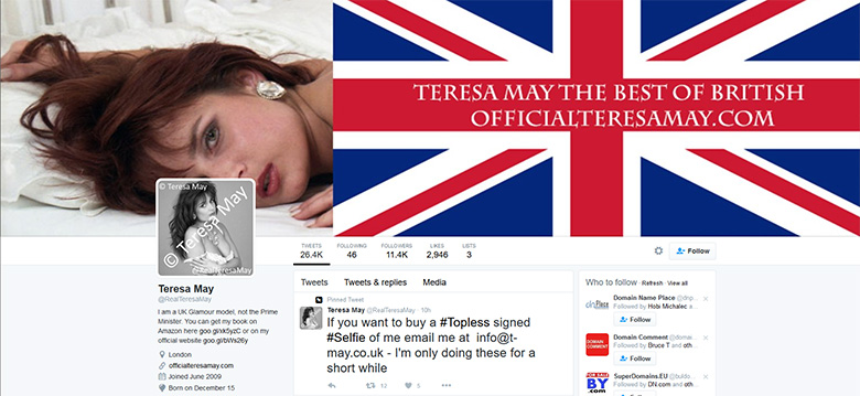 Teresa May - Glamour model.