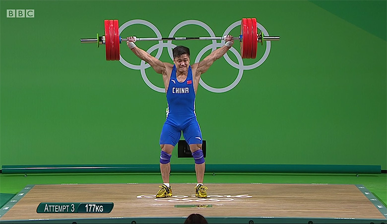 Weight-lifting is a big sport for China. Photo courtesy BBC.