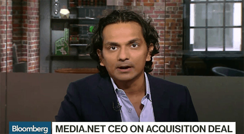 Divyank Turakhia on Bloomberg TV discusses the sale of Media.net.