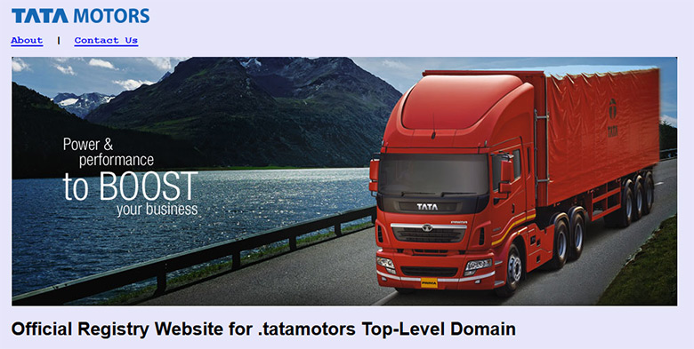 Tata Motors also wants .Tata for its corporate domain.