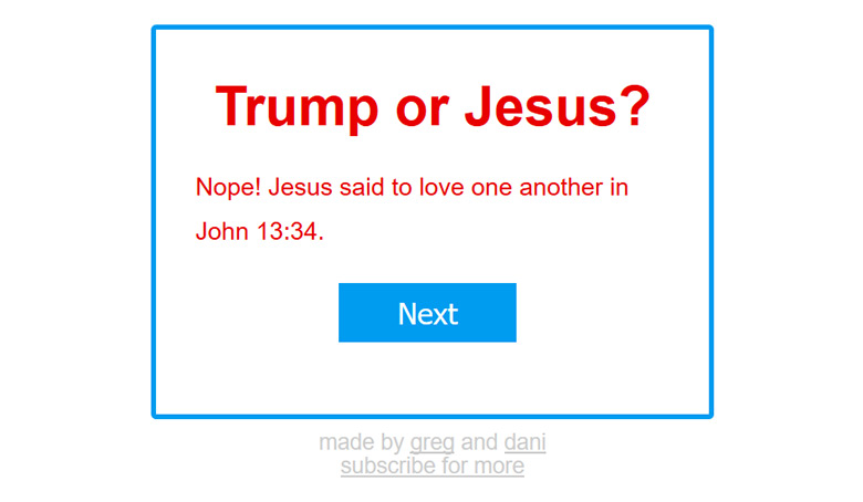 Trump or Jesus said that?