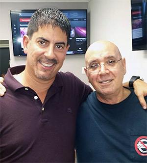 Uzi Nissan (R) with Eddie Sixto (L).