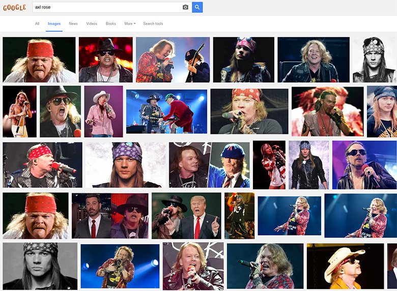 Axl Rose images in Google.