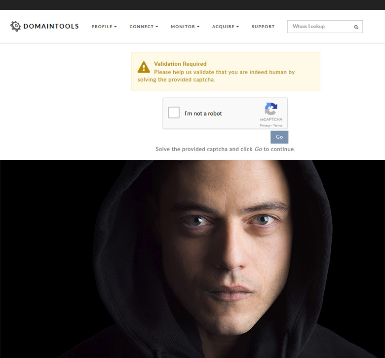 Mr. Robot & DomainTools.