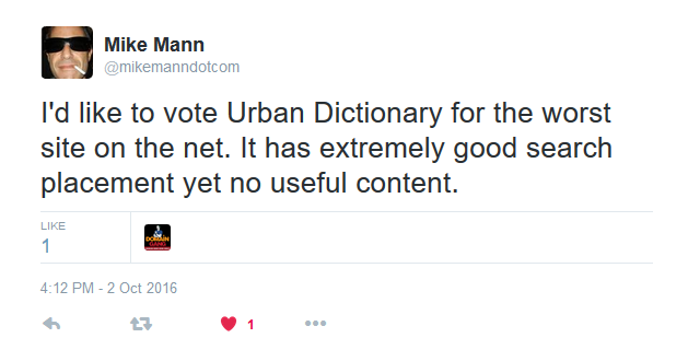 Mike Mann on Twitter.
