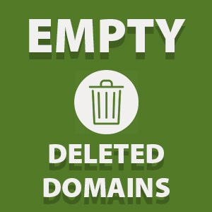 Deleted domains: gone after 30 days.