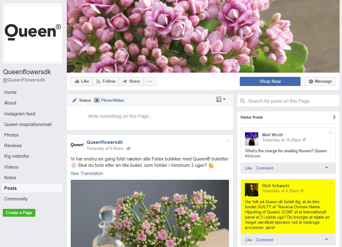 queen flowers dk